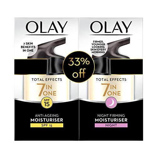 Olay Total Effects 7in1 Beauty Box: Anti-Aging Moisturiser SPF15 50 ml + Night Firming Moisturiser 50 ml