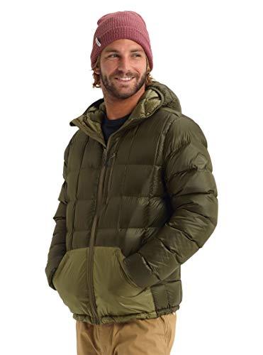 Burton Mens Evergreen Hood Down Insulator, Keef/Martini Olive, X-Large