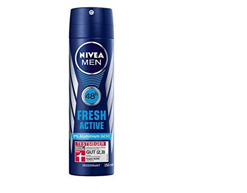 Nivea Men Fresh Active Deo, Ohne Aluminium, 2er Pack (2 x 150 ml)