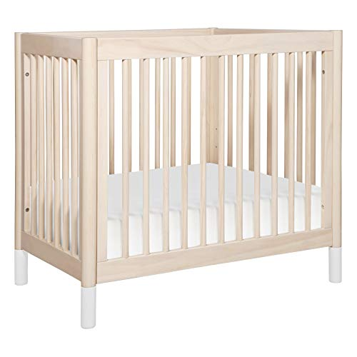 Babyletto Gelato 2-in-1 Mini Crib in Washed Natural / White, Greenguard Gold Certified
