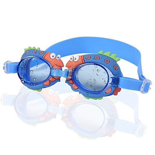 CYSJ Occhialini da Nuoto per Bambini, Impermeabile Occhiali Anti, Occhialini Piscina Bambini con Ampia Visuale, in Morbido Silicone, Professionali Occhialini per Piscina e Snorkeling - Blu