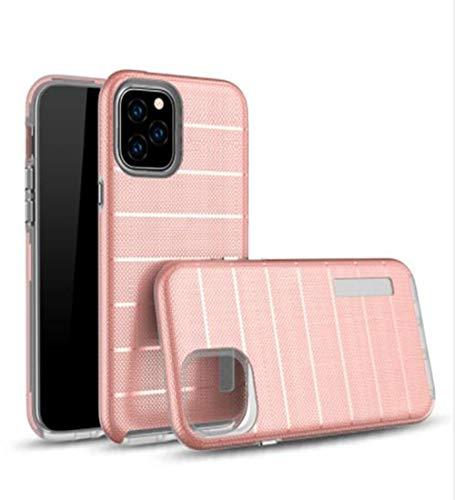 Aulzaju Schutzhülle für iPhone 11 (kabellos) 2 in 1 Hybrid-Hülle innen, weiche TPU, schmale Rückseite aus hartem Polycarbonat, stoßfest, Militär-Hülle für iPhone 11 iPhone 11 6.1 inch rose gold