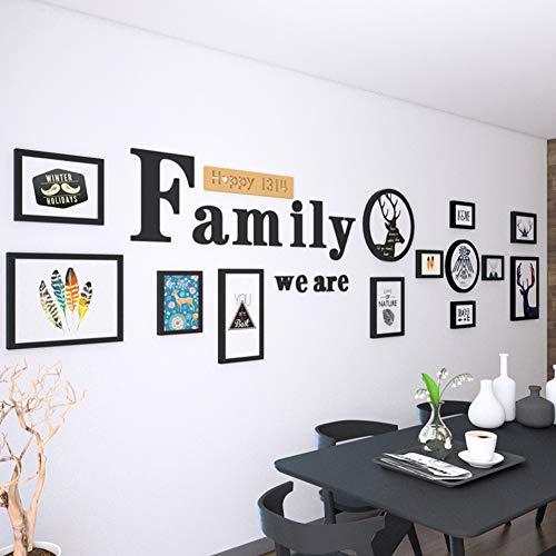 ZXZ-GO Grande Taille Lettre de Wapiti Peinture décorative Combinaison Salon Chambre canapé Peinture Photo créative Cadre tenture Murale