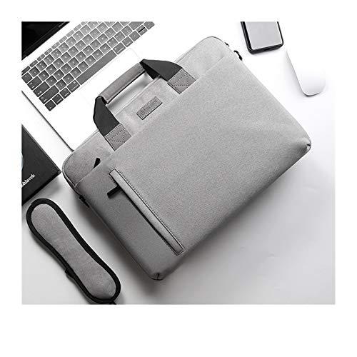 Funda Ordenador Bolso portátil 14 15.6 Bolsa de Cuaderno Impermeable de 17.3 Pulgadas para el Bolso de la Cartera del Bolso del Hombro de la computadora (Color : Model 2 Light Grey, Size : 14inch)