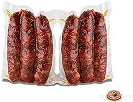 Moretti® Salsiccia Stagionata Piccante | 2 Confezioni in sottovoto da circa 300g/350g totale 600g/700g | Salame Di Puro...