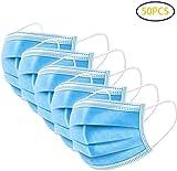 Mundschutz Maske OP-Maske Gesichtsmaske Einweg-Masken 3-lagig 50 Stück Blau, Staubschutz...