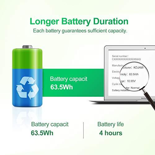 KDJAMI A1322 Laptop Battery for MacBook Pro 13