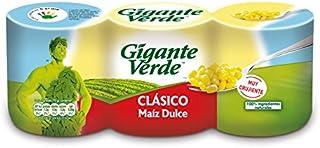 Gigante Verde Clásico Maíz dulce - Pack de 3 x 160 g - Total: 480 g