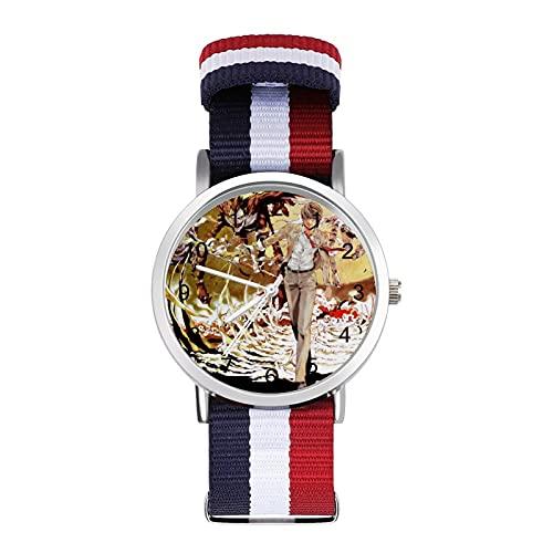 Death Note- Reloj trenzado con escala de moda ajustable para negocios, banda de impresión a color, adecuado tanto para hombres como para mujeres