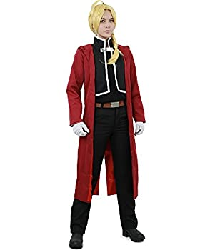 Miccostumes Men s Edward Elric Cosplay Costume Extra Large Red and Black