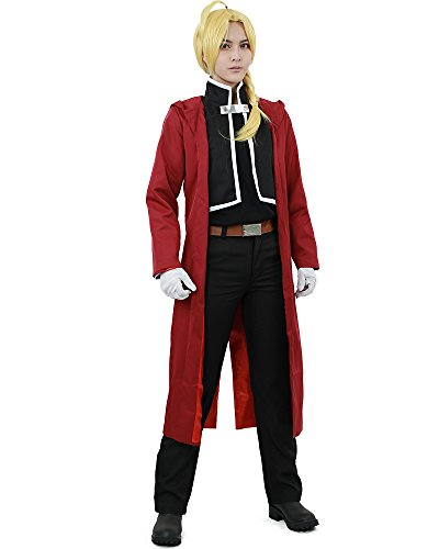 Miccostumes Men's Edward Elric Cosplay Costume Extra Large Red and Black