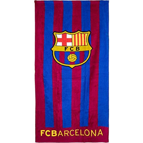 Brandunit FC Barcelona - Toalla de baño (70 x 140 cm), diseño de rayas