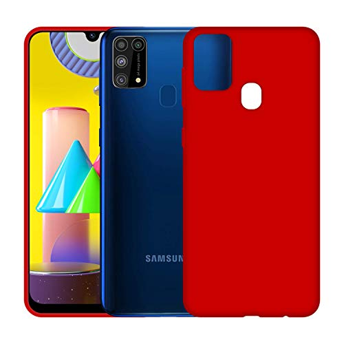 Case Creation Luxurious OG Series for Samsung M31 Case Cover,Anti-Dirty Slim Case Frosted Matte Cute Candy TPU Raised Bezel (Splash of Color) Back Cover for Samsung Galaxy M31 - Glamour Red