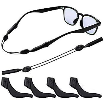 ELLU Glasses Chain Eyewear Eyeglass Sunglasses Holder Retainer Sports Gym Neck Strap