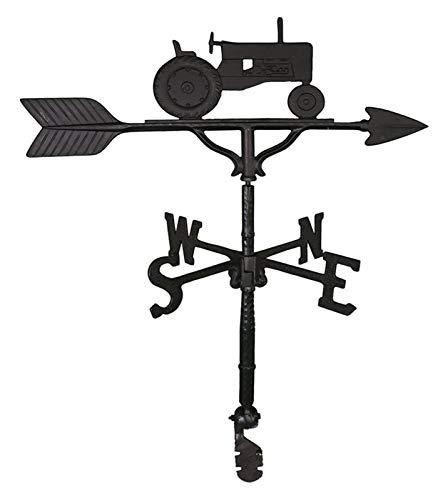 L.J.JZDY Wetterfahne Professionelle Measuring Tools Montague Metall Satin Black Traktor Ornament 32-Inch Weathervane