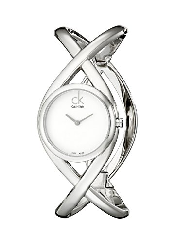 Calvin Klein Damen Analog Quarz Uhr mit Edelstahl Armband K2L23120