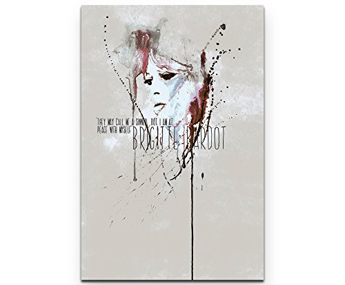 Brigitte Bardot II 90x60cm auf Leinwand gespannt fertig zum aufhängen