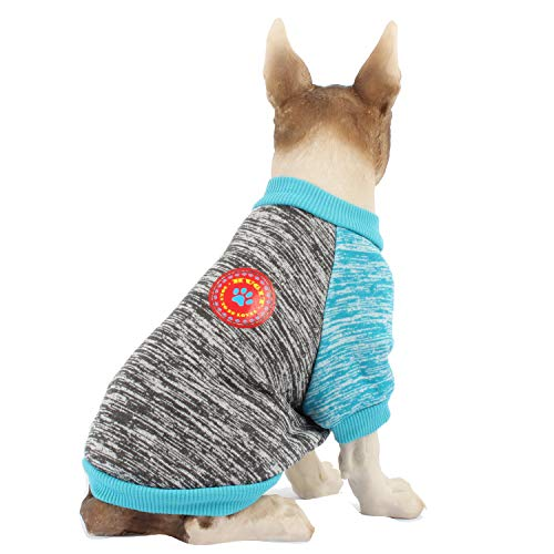 HAPEE Dog Sweater for Small and Middle with Emblem,Pet Warm Clothes,Puppy Cat Dog Shirt in Winter