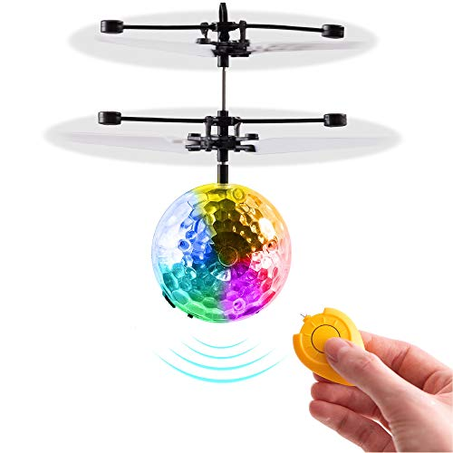 Magic Flying Ball Toy - Infrared Induction RC Drone, Disco Light LEDs, Rechargeable Indoor Outdoor Helicopter - Best Easter Basket Gift Idea & Birthday Present 2021 for Boys Girls Kids Teens & Adults