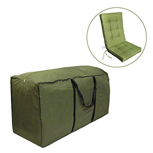 Cheerfulus Grün Aufbewahrungstasche Weihnachtsbaum/Transporttasche für Gartenmöbelauflagen - Robust und wasserdicht (M:122x39x55cm)