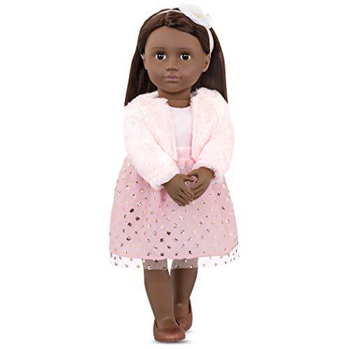 Our Generation Muñeca Clásica 46 cm-Riya, Color, 18 Inch Doll (Battat BD31253Z)