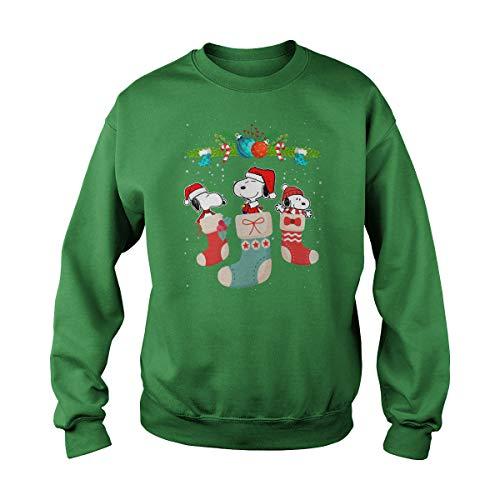 Snoopy in Christmas Stocks Camiseta Snoopy Idea de Regalo de Navidad Camiseta