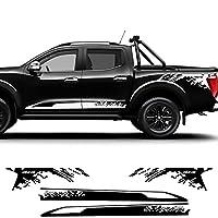 BTOEFE 2PCSオートビニールフィルムデコレーションデカール、日産ナバラNP300DIY車のドアサイドステッカースポーツスタイリング車のチューニングアクセサリー