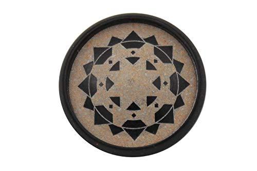 Ökoknopf ® knopen zwart beige urea en hoorn met metalen oogje (5 stuks) 20mm zwart