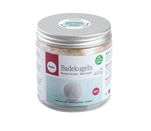 Rayher 34225000 Boules de bain pétillantes, boîte 400g de mélange de cire cosmétique pour la réalisation des boules de savon pétillantes