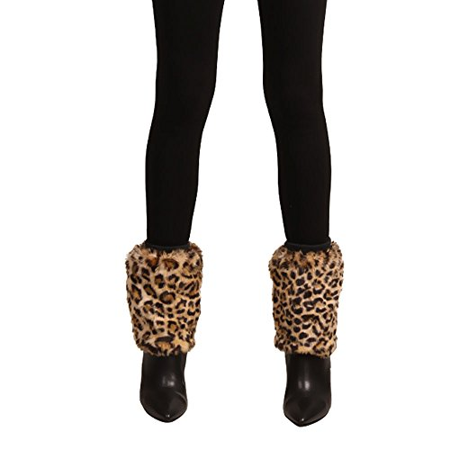 Partybob Damen Fellstulpen (Leopard)