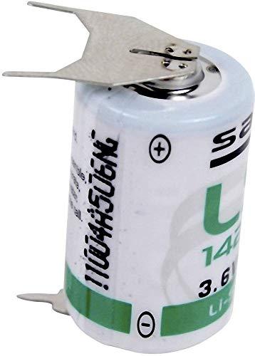 Saft LS 14250 3PF Spezial-Batterie 1/2 AA U-Lötpins Lithium 3.6V 1200 mAh 1St.