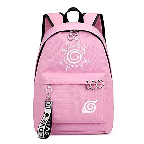 Naruto, zaino scolastico per adolescenti, casual, in tela, per sport, zaino da viaggio, impermeabile, Naruto 15., 44 x 30 x 16 cm,