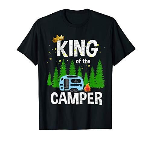 Herren King Of The Camper Camping Wohnwagen Campingplatz T-Shirt