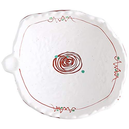 yzf Cuenco de cerámica, Placas de Ensalada de Cocina de Cocina, Sushi, 10 Pulgadas, Hechos a Mano, ensaladas, postres, Frutas, Pasta, arroz, etc.