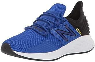 New Balance Fresh Foam Roav V1 Lace-up Running Shoe, Uv Blue/Black, 1 US Unisex Little Kid