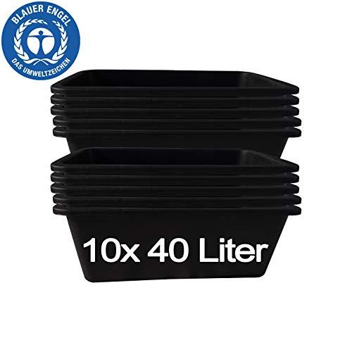 10 Stk. 40 Liter Mörtelkasten Tuppe Mörtelwanne Zementkübel Maurerwanne