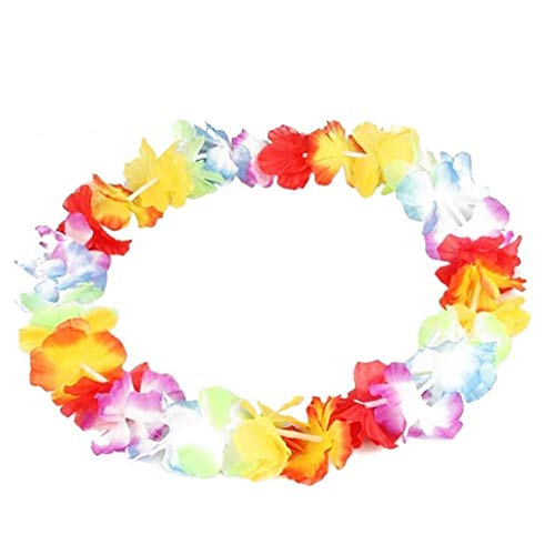 MICHAELA BLAKE Colorful Artificial Hawaiian Leis Luau Flower Necklace Fancy Dress Party Beach Fun Festival Luau for Summer Luau Party Supplies Decoration