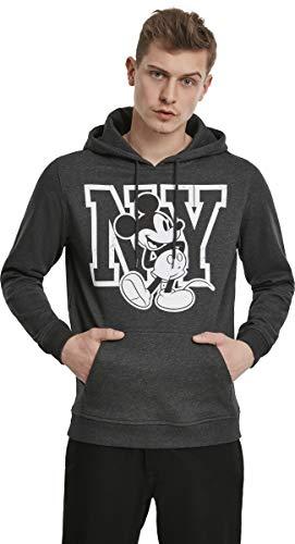 MERCHCODE Disney Micky Maus - Sudadera con Capucha para Hombre, diseño de Mickey Mouse, Hombre, MC420, Charcoal, Extra-Large