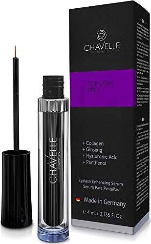 Eyelash Growth Serum Top Lash Pro Chavelle - 0.135 Fl Oz I Made in Germany Longer Lashes Thicker Eyebrows
