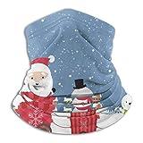 LREFON Papá Noel muñeco de Nieve en el Cuello del Coche Polaina Bandana Calentador de Cuello pasamontañas para Hombres Mujeres Sol protección contra el Polvo del Viento UV