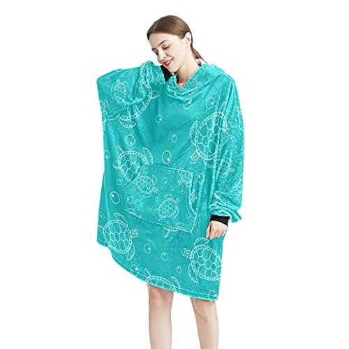 Watercoloor - Manta con capucha para mujer y hombre, talla única, Color-18, Talla única