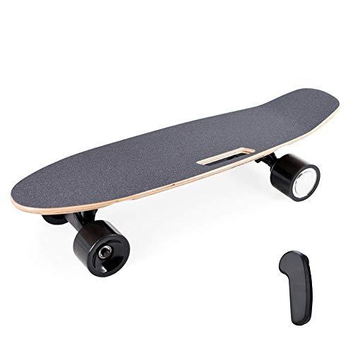 WXDP Cruiser Pro Skateboard,Elektrisches Skateboard Motorisiertes Skateboard 20 km/h Höchstgeschwindigkeit, 350 W Motor, 7-lagiger Ahorn mit drahtloser Fernbedienung Weihnachts