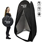 EasyGoProducts Portable Changing Dressing Room Pop Up Shelter for Outdoors Beach Area Grass Shower Room Equipped with Portable Carrying Case. Great for Clothing Companies, Black, EGP-TENT-017