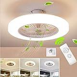 BEHWU Ventilador de techo Lámpara de techo, moderna LED Ventilador De Techo...