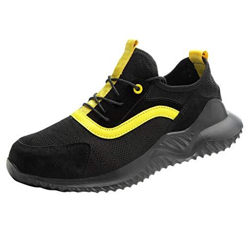 Chaussure de securite Chaussures sécurité Legere des pour Femme Groundwork Peak Incendie Blanche Cuisine Coque Chaussure de securité Homme Montante Travail Cuir Chaussures(Noir,40)
