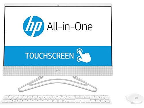 """HP 22-c0216ns - All in One Táctil - Ordenador de sobremesa 21.5"""" FullHD (Celeron J4005, 4GB RAM, 1TB HDD, Intel Graphics, FreeDos), Color Blanco, con Teclado QWERTY Español y Ratón"""