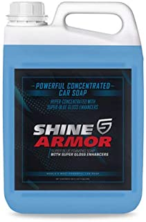 SHINE ARMOR Ultra Concentrated Car Wash Soap for Car Washing, Detailing, Cleaning - Wash & Wax Formula - Car Wash and Wax - Spray on or Mitt - Hydrophobic Top Coat Polish - 128 oz. (1 Gallon)