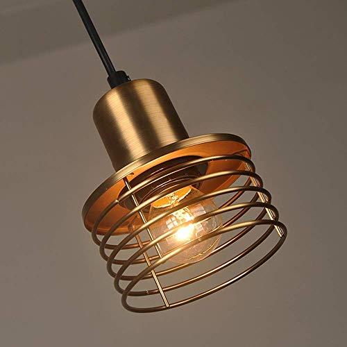 Lámpara colgante de techo retro, lámpara de techo colgante de cobre E27, lámpara de techo de hierro forjado Lámpara colgante para lámpara de techo para Loft Coffee Bar Isla de cocina XYJGWDD