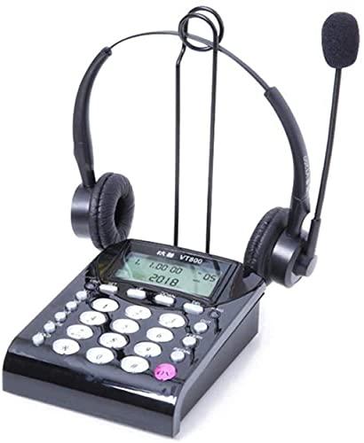 LDDZB Teléfono/teléfono inalámbrico, teléfono fijo, teléfono fijo, teléfono fijo de la oficina, teléfono (color : teléfono) (color: teléfono y auriculares duales)