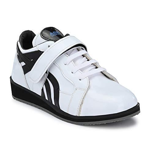 PRO ASE Men's White Weight Lifting Shoes - 8 UK